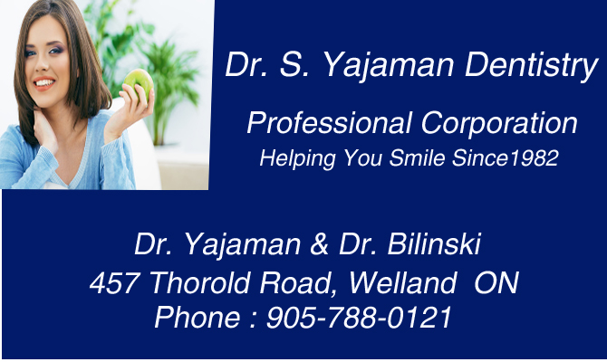 Dr. S. Yajaman Dentistry Professional Corporation | Welland, ON Dentist