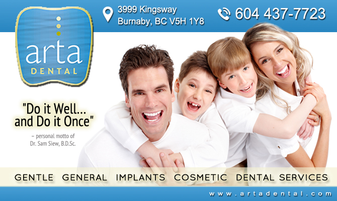 ARTA Dental – Burnaby Dentist | Dr. Sam Siew